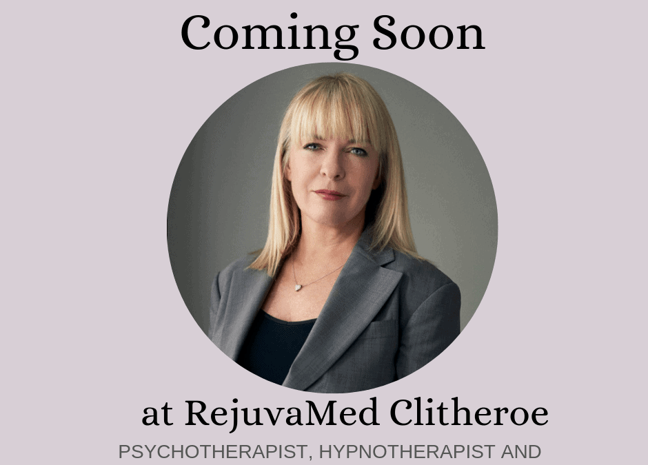 Amanda Baker, Professional Hypnotherapist, Psychotherapist & Rapid Transformational Therapist coming soon to RejuvaMed!
