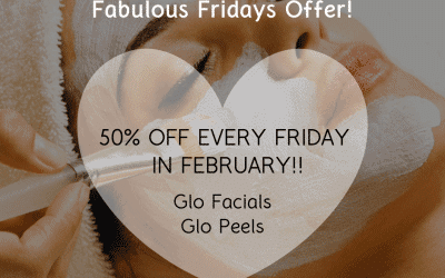 Fabulous Fridays – save 50% on all Glo Skin Beauty Facials & Peels every Friday in February!